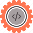 code, coding, construction, engineering, process, programming, software icon