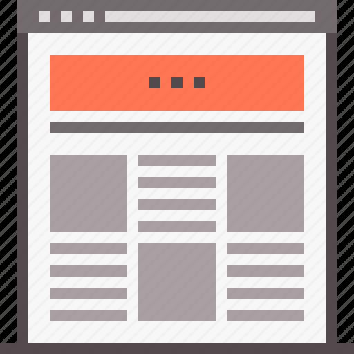 design, landing, mockup, page, template, web, website icon
