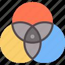 design, symbol, color, mixing, composition, logo, triad icon