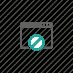 block, error, page, prohibit, warning, web, web page icon