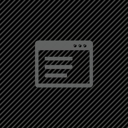 page, web, web page icon