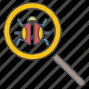 bug, fixing, seo, web icon