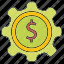 management, money, seo, web icon