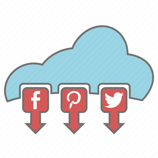 cloud, media, seo, social, web icon