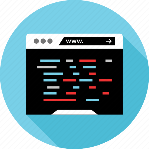 code, coding, internet, www icon