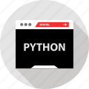 code, devolpment, python icon