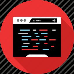 code, devolpment, website icon