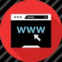 click, code, www icon