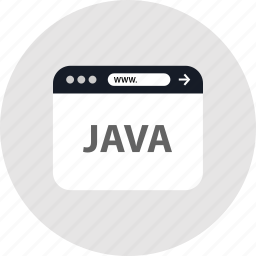 code, java, www icon