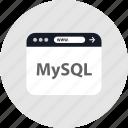 code, mysql, www icon