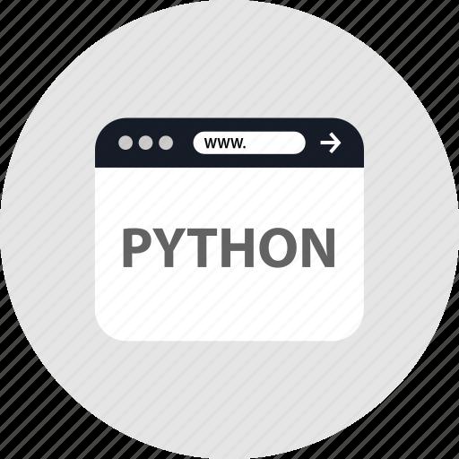 code, python, www icon