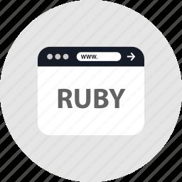 code, ruby, www icon