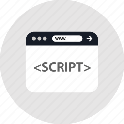 code, script, www icon
