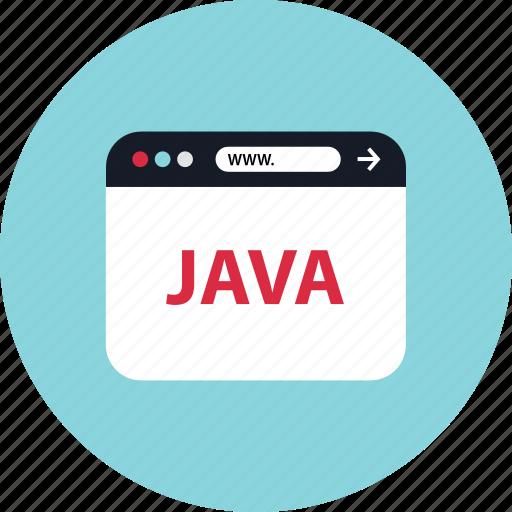 browser, java, mini, www icon