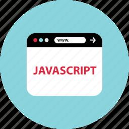 code, javascript, www icon