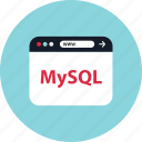 browser, mini, mysql icon