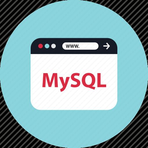 browser, mini, mysql icon