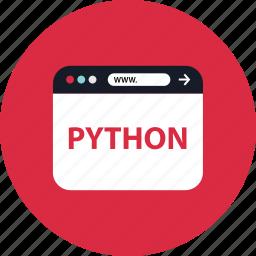 browser, mini, python, web icon