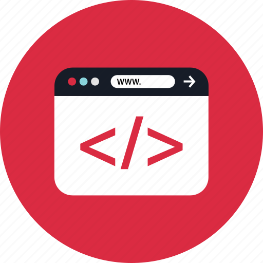 code, tags, www icon