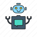assistant, automated, bot, bots, machine learning, robot, robotic icon