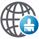 browser, cleanup, security, shield, spyware icon