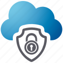 cloud, security, shield, spyware icon