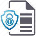 document, security, shield, spyware icon