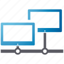 monitor, network, security, shield, spyware icon