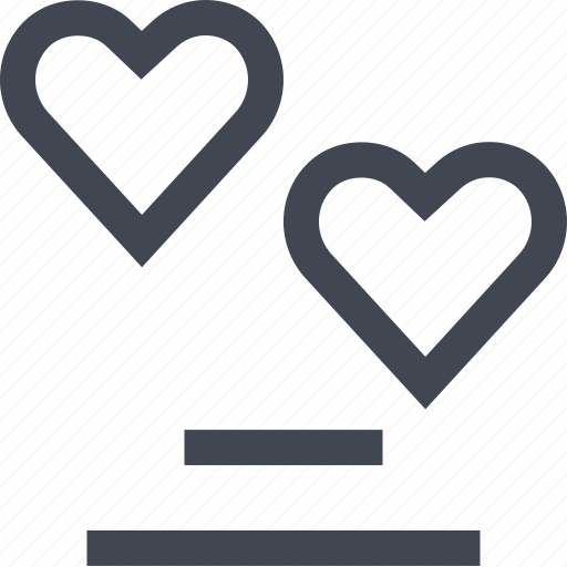 chat, heart, love, talking icon