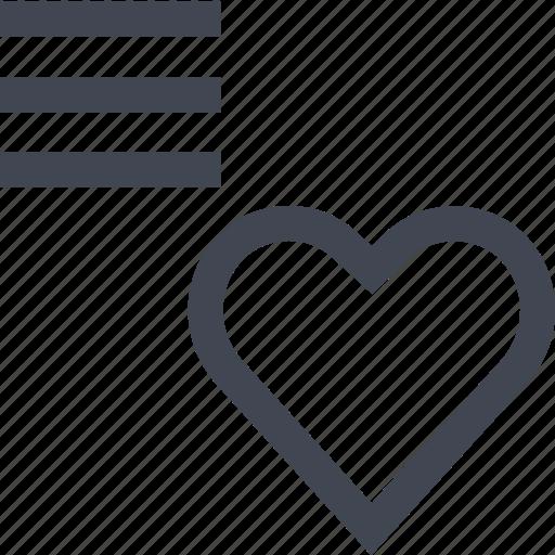 heart, love, menu icon