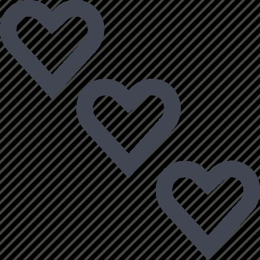 chat, heart, love, three icon