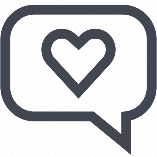 chat, conversation, heart, love icon