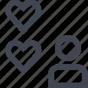 heart, love, user