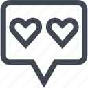heart, love, talk icon