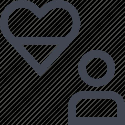 love, person, talk, user icon