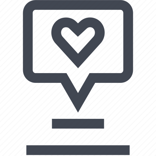 heart, love, user icon