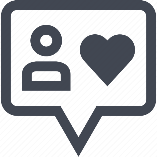 chat, love, person, user icon
