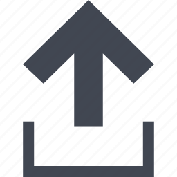 arrow, go, up, upload icon