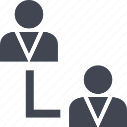 connect, profiles, two, users icon