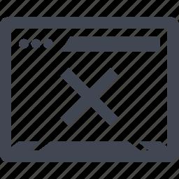 denied, error, page, stop icon