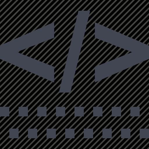 code, coding, development, html, web icon