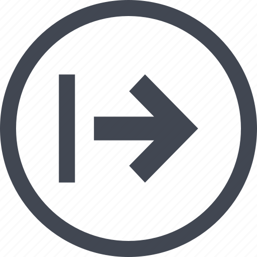 arrow, go, next, point icon