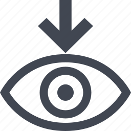 arrow, eye, point, views icon