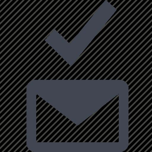 check, email, good, ok, safe icon