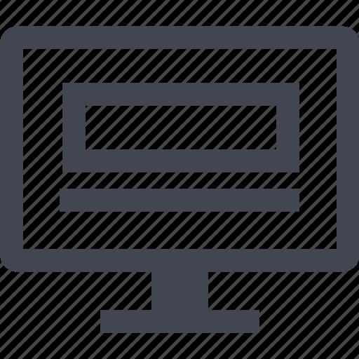 mockup, monitor, pc, web icon