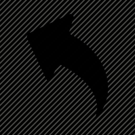 arrow, back, up icon