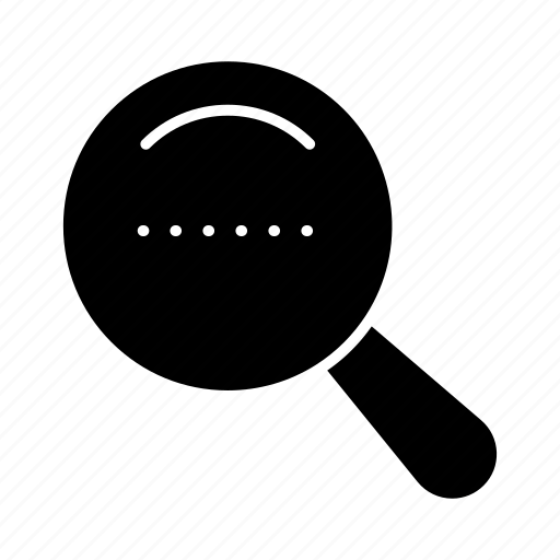 dote, magnifier, search icon