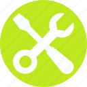 constructor tool, garage tool, repairing purpose, screwdriver, screwdriver and spanner, tool icon