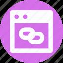 chain link, hyperlink, link, web link icon