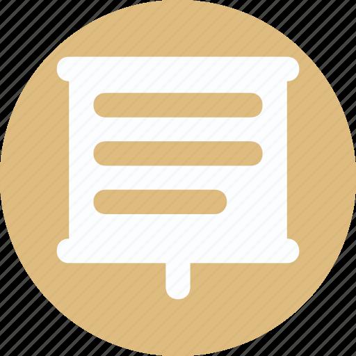 business presentation, presentation board, report icon